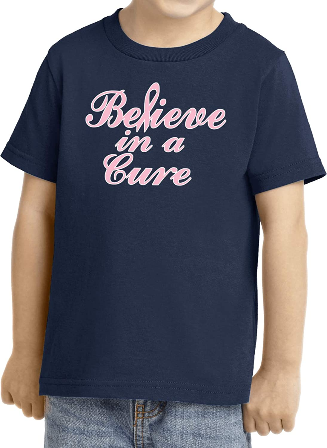 Kid/'s Breast Cancer Awareness Believe in a Cure Long Sleeve Tee T-Shirt 19099E4-PC61YLS