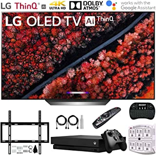 """LG OLED77C9PUB 77"""" C9 4K HDR Smart OLED TV w/AI ThinQ (2019) + Microsoft Xbox One X 1TB + Deco Mount Flat Wall Mount Kit + 2.4GHz Wireless Keyboard w/Touchpad + 6-Outlet Surge Adapter w/Night Light"""
