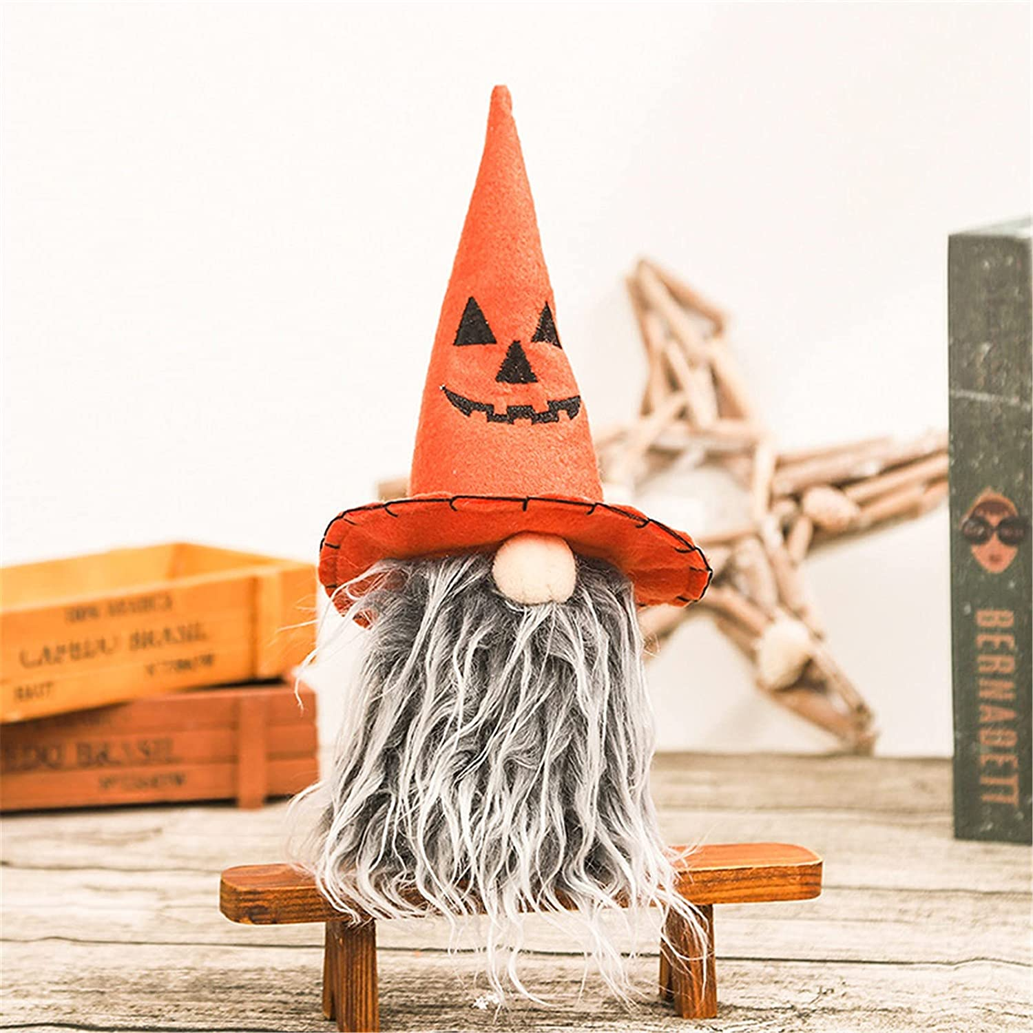 OLOPE Daily bargain sale Halloween Gnome Plush Decoration Handmade To Faceless Doll Sale special price