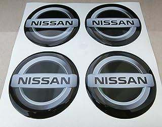 GTBTunning - 4 adhesivos Nissan - Medidas 60 mm - Color negro - Adhesivos resinados,