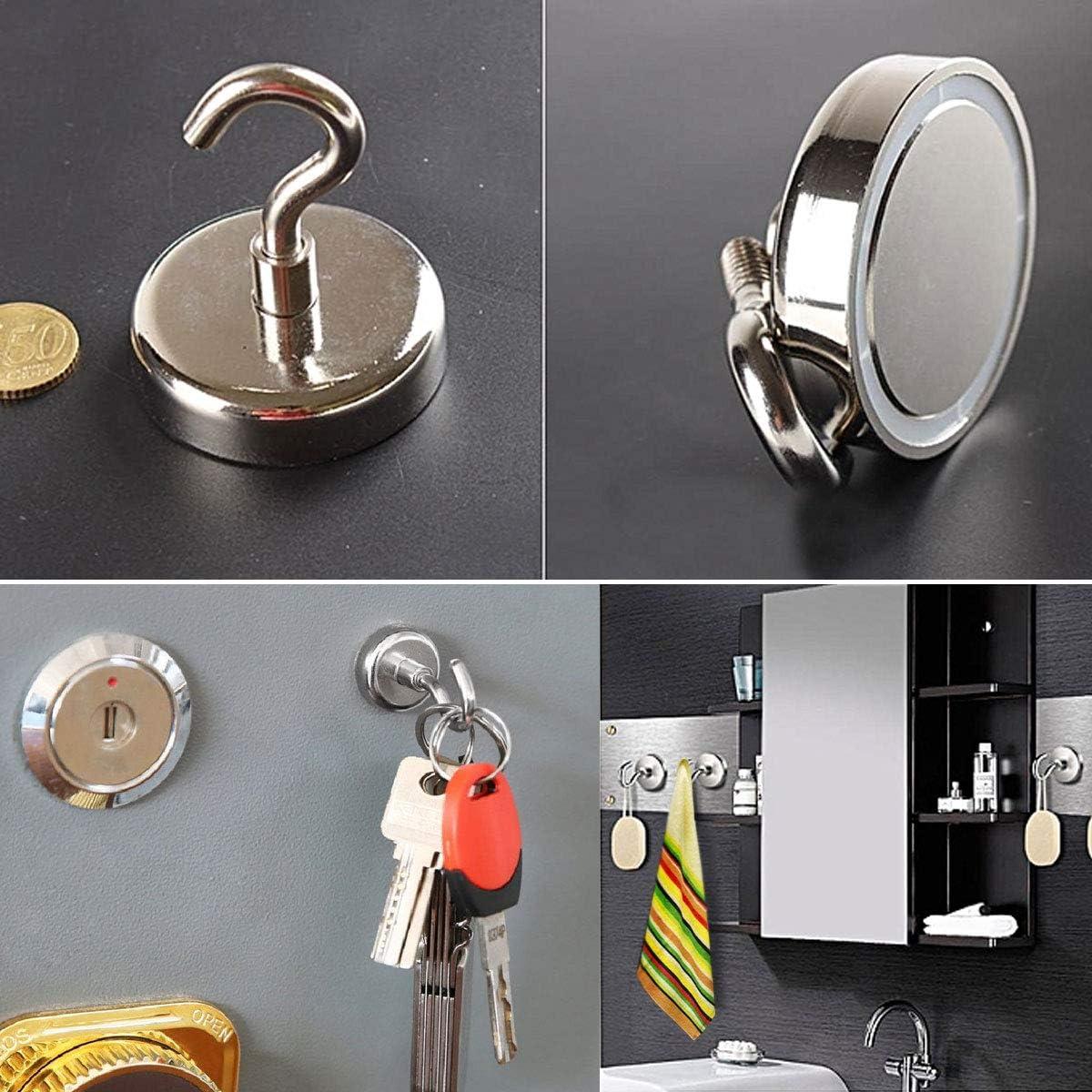 Magnetic Hook Neodymium Magnet Hook Two hooks-3pc-16 25 32mm 16mm 25mm 32mm Magnet Hook