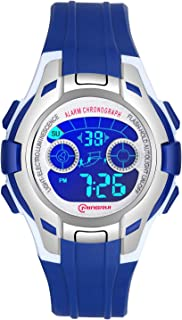 Kids Digital Watches for Girls Boys,7 Colors LED Flashing Waterproof Wrist Watches for Boys Girls Child Sport Outdoor Multifunctional Wrist Watches with Stopwatch/Alarm for Ages 5-14