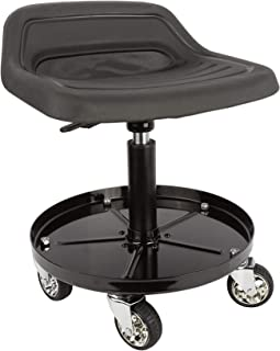 Sunex 8514 300-Pound Capacity Telescoping Tractor Seat with Parts Tray and 3.5-Inch Heavy Duty Casters (Renewed)