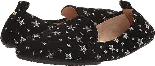 Black Constellation Star Print