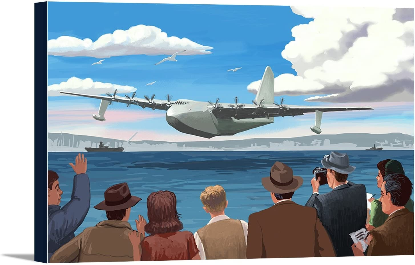 Spruce Goose Regular dealer 18x12 High order Gallery Wrapped Canvas Stretched