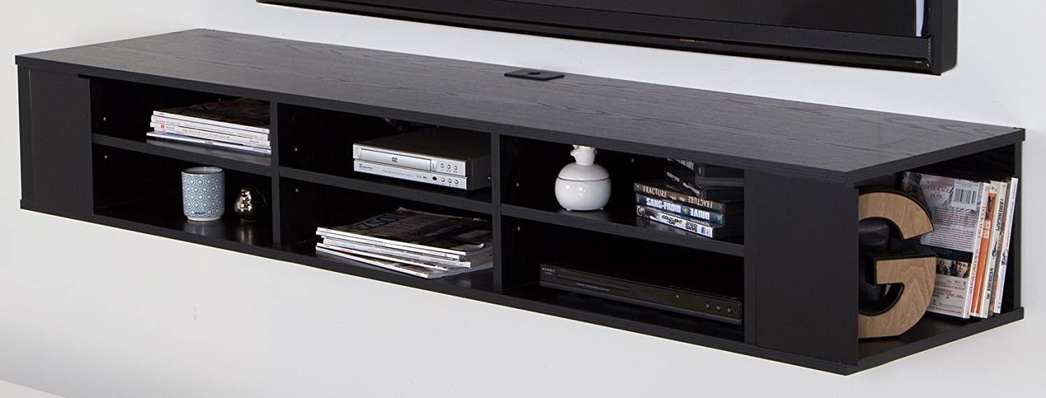 """City Life Wall Mounted Mesa Mall cheap Media Console Wide Extra 66"""" Storage -"""