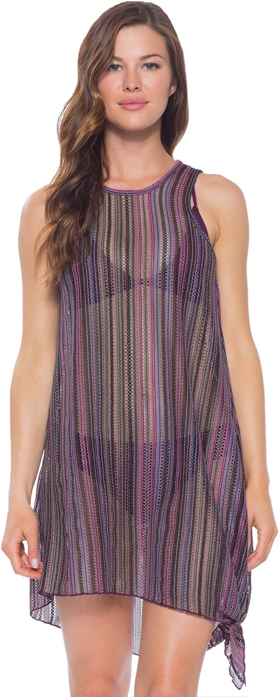 Becca by Rebecca Virtue Women's Crochet Tie Side Short Dress Swim Cover Up