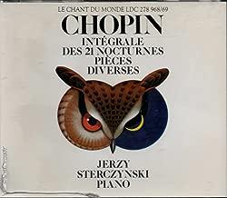 Chopin : Complete Nocturnes & Diverse Pieces - Jerzy Sterczynski (2 Le Chant du Monde DCs)