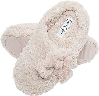 Womens Plush Marshmallow Slide On House Slipper Clog with Memory Foam
