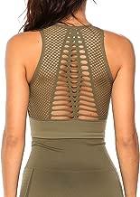 KIWI RATA Women Seamless Sport Bra High Impact Workout Crop Tops Fitness Activewear Yoga Bra Mesh Padded Shirts
