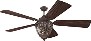 Craftmade K10337 Downrod Mount, 5 Wood Finish  Blades Ceiling fan with 21 watts light, Aged Bronze Textured