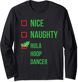 Hula Hoop Dancer Funny Pajama Christmas Gift Long Sleeve T-Shirt