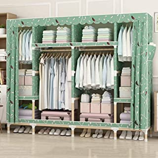 Armoires en Tissu Armoire Portable Penderie Portable avec Support Suspendu Et 8 étagères pour Garder Les Vêtements en Sécu...
