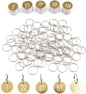 Schlüsselmarken 1-100 BRAUN Gepäck Zahlenmarken Kennzeichnungsmarken