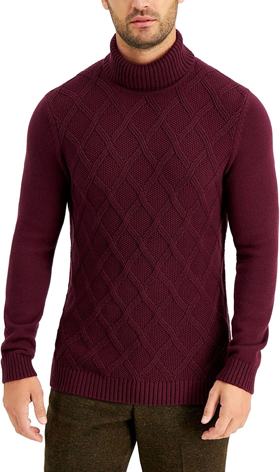 Tasso Elba Mens Sweater Small Knit Pullover Re Some reservation Turtleneck Chunky Max 68% OFF