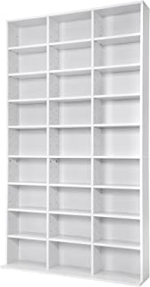 TecTake Estante de CD DVD Shelf archivado 1080 CDs DVDs (Blanco | no. 401703)