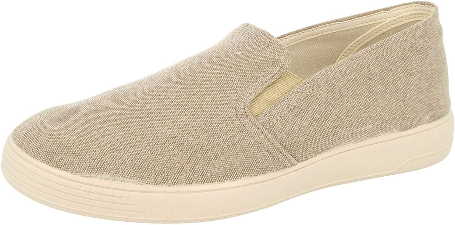 DB's Men's Extra Wide (2V Fit) Casual Slip on shoes (Miles) in Taupe