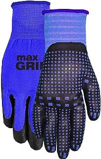 Midwest Gloves & Gear 94BL Max Grip 3 Pack Gripper Gloves, Blue