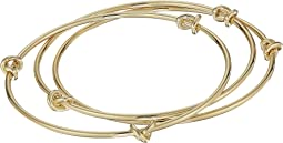 LAUREN Ralph Lauren Classic Metal Knots Set of 3 Bangles