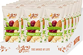 Original Delicious Energy Mix by J.C.'s Quality Foods - Premium Mix of Almond, Cranberries, White Choc Gems, Pistachio Kernels - a Healthy Energy Boosting Snack 18 x 45g Bags