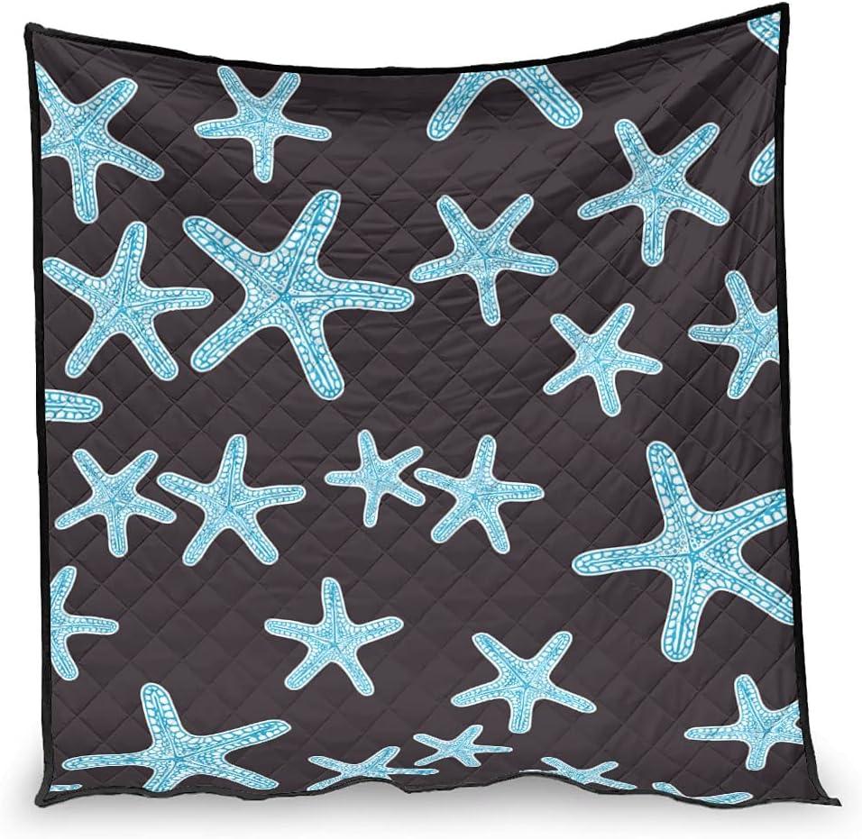BBthrow Starfish Sacramento Mall Black Quilt New sales Soft Cozy Conditioner Bed Air