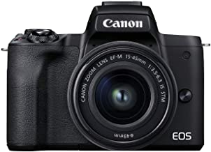 Canon EOS M50 Mark II + EF-M 0.591-1.772 in es STM Kit Negro