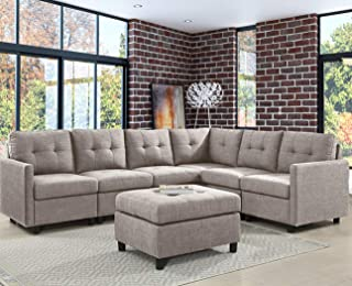 Amazon.com: 7 Pieces - Living Room Sets / Living Room Furniture ...