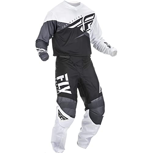 ONeal Element Villain White Adult motocross MX off-road dirt bike Jersey Pants combo riding gear set Pants W34 // Jersey Large