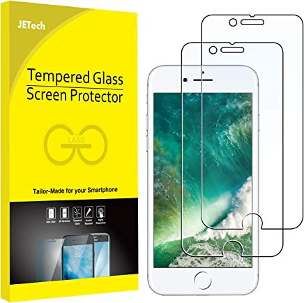 JETech Screen Protector for Apple iPhone 8 and iPhone 7, 4.7-Inch, Tempered Glass Film, 2-Pack