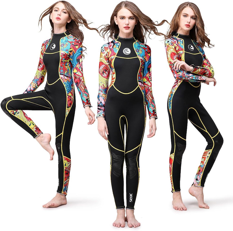 Lixada 3mm Ganzkrper Neoprenanzug, Einteiliger Taucheranzug, Lange rmel, für Damen, Tauchen, Schnorcheln, Schwimmen, Wassersport, Ausrüstung
