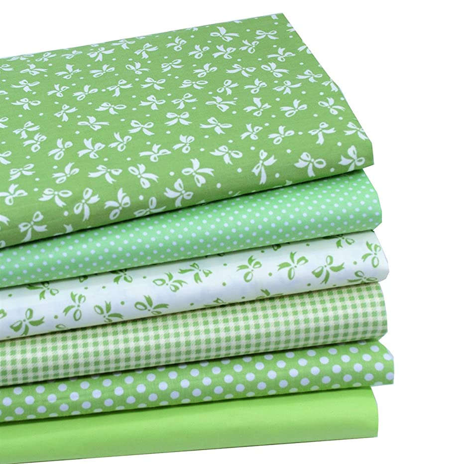 iNee Green Fat Quarters Fabric Bundles, Quilting Fabric for Sewing Crafting, 18