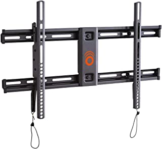 "ECHOGEAR Low Profile Fixed TV Wall Mount for TVs Up to 85"" - Holds Your TV Only 2.25"" from The Wall - Fast Install with Template & You Can Level After Mounting - Pull Strings for Easy Cable Access"
