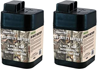 2 MOULTRIE 6 Volt Rechargeable Safety Batteries for Automatic Deer Feeders |SRB6