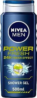 NIVEA MEN Power Fresh Shower Gel, 24h Fresh Effect, Citrus Scent, 500ml