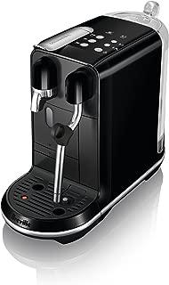 Breville-Nespresso USA BNE500BKS1BUS1 Breville Nespresso Creatista Uno Single Serve Espresso Machine, 12.2x6.7x16.1 (HxWxD), Black Sesame