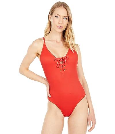 Quintsoul Swimwear Lace-Up Front One-Piece