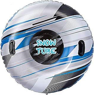 CARACHOME Luge Bouée Gonflable, Cadeau de Noël 47 Pouces Anneau de Ski Cercle Luge Planche de Surf Luge à Neige résistante...