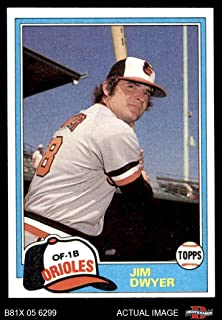 1981 Topps Traded # 757 T Jim Dwyer Baltimore Orioles (Baseball Card) Dean's Cards 6 - EX/MT Orioles