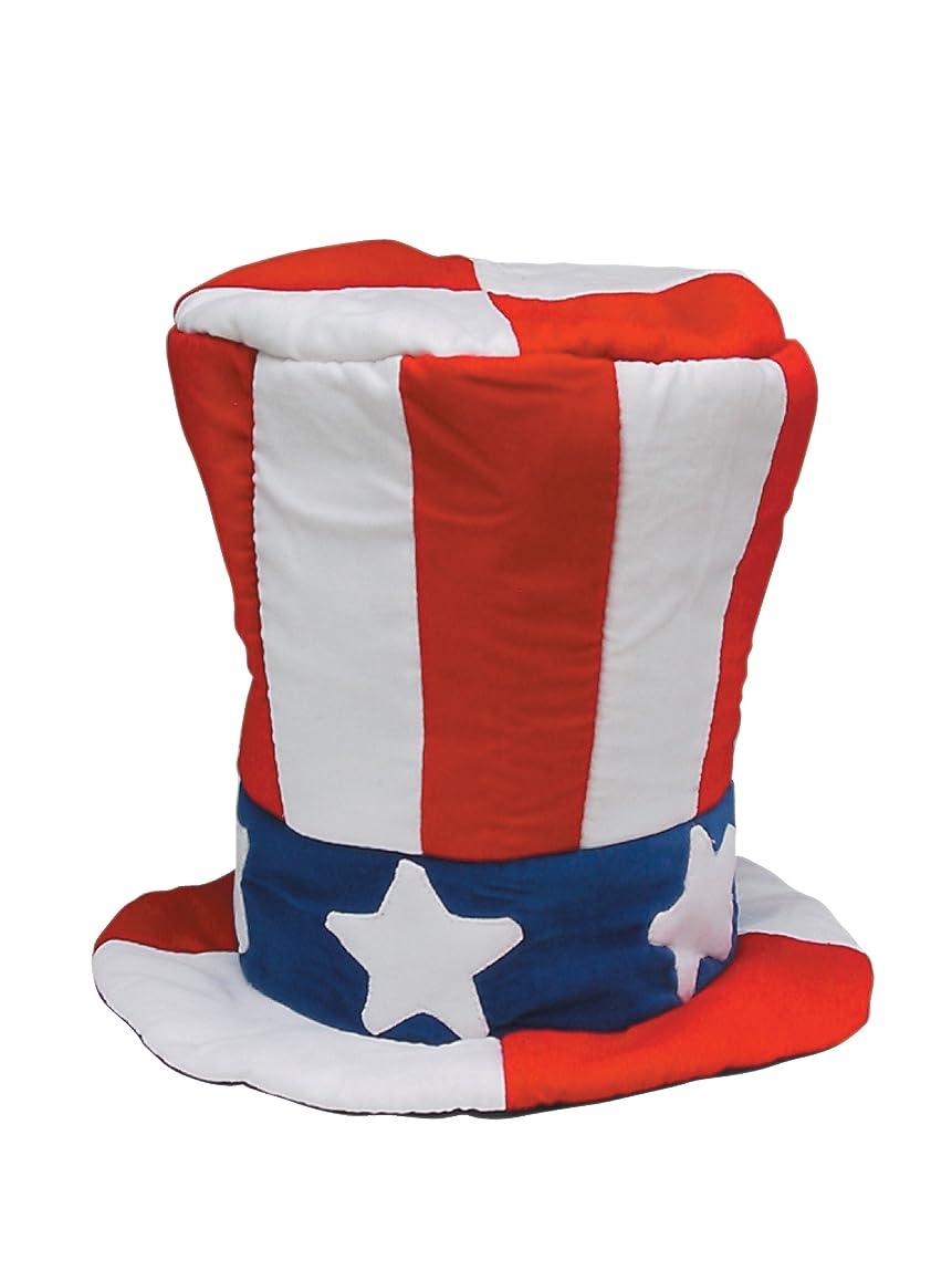 サスペンドユダヤ人縫うヤコブソンハット社の米国旗の柄付きメンズベルベットトップハット