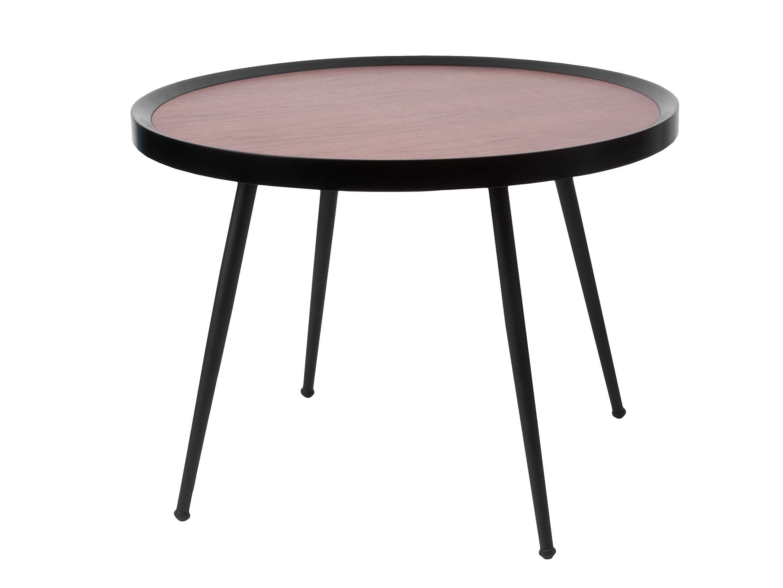 Versa 10850130 Tavolino in metallo nero 45 cm