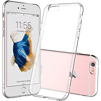 Shamo's Compatible with iPhone 6s Case and iPhone 6 Case Crystal Clear Shock Absorption TPU Rubber Gel Transparent