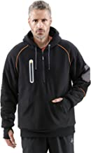 RefrigiWear Men's PolarForce Pullover Sweatshirt - Insulated Hoodie with Performance Flex and Grip Assist