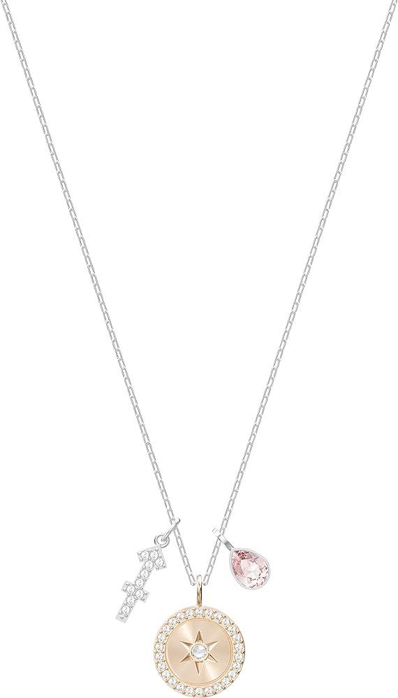 Swarovski collana per donna placcata rodio con pendente con un simbolo decorato con pavé 248849-00