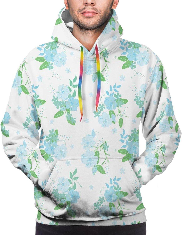 Men's Hoodies Sweatshirts,Romantic Feminine Arrangement Inspired by Spring Nature Pink Blossoms