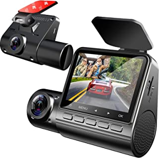 $69 » Sponsored Ad - ZOMFOM G10 Dash Cam with Infrared Night Vision, Dual 1920x1080P Front and Inside, Parking Monitor, Dash Cam...