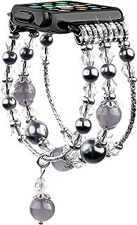 TOOGOO Agate Watch Strap for Watch 1 2 3 4 Strap Women's Fashion Wrist Bracelet for IWatch 38Mm 40Mm Watchband Gray