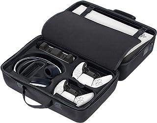 N/Z Funda para consola PS5, funda de transporte para consola Playstation 5, gran capacidad, resistente al agua, piel resis...