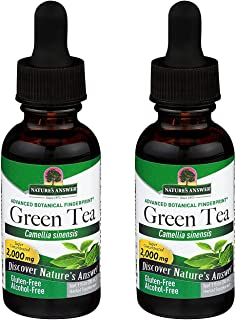 Nature's Answer Green Tea Alcohol Free 1 Ounce ( 2 Pack ) | Natural Fat Burner | Weight Management | Energy Booster | Natu...