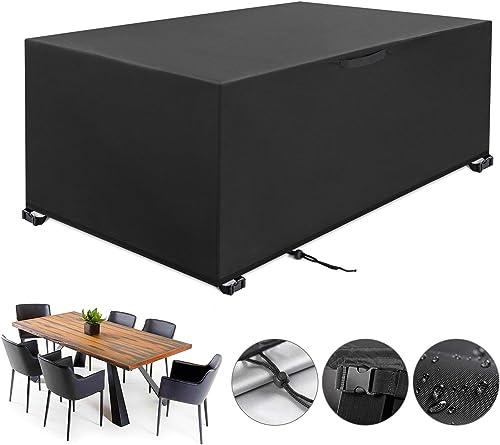 YISSVIC Housse Salon de Jardin 213 x 132 x 74cm 420D Oxford Housse de Protection Bâche de Table Imperméable Résistant...