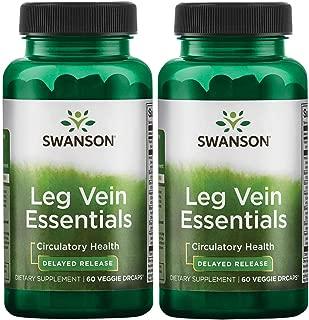 Swanson Leg Vein Essentials - Delayed Release 60 Veg Drcaps 2 Pack